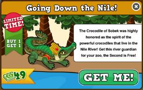 Crocodile of sobek modal