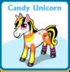 Candy unicorn card