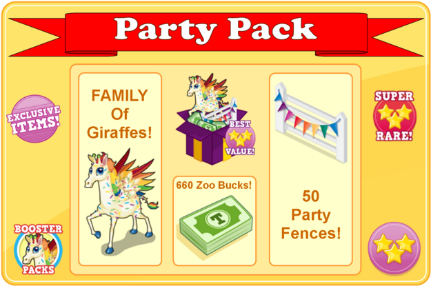 Party pack modal