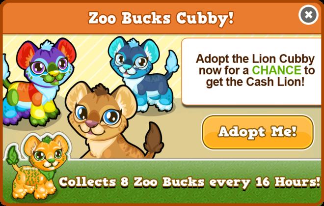 Cubby lion modal