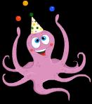 Juggling octopus static