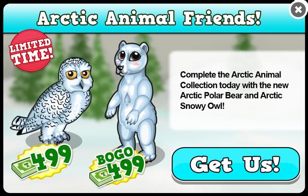 Arctic polar bear modal