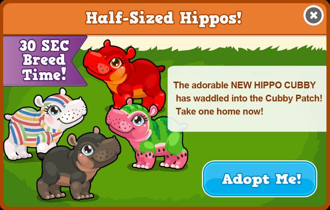 Cubby hippo modal