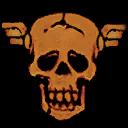 Winged Skull (Red)