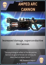 Amped Arc Cannon