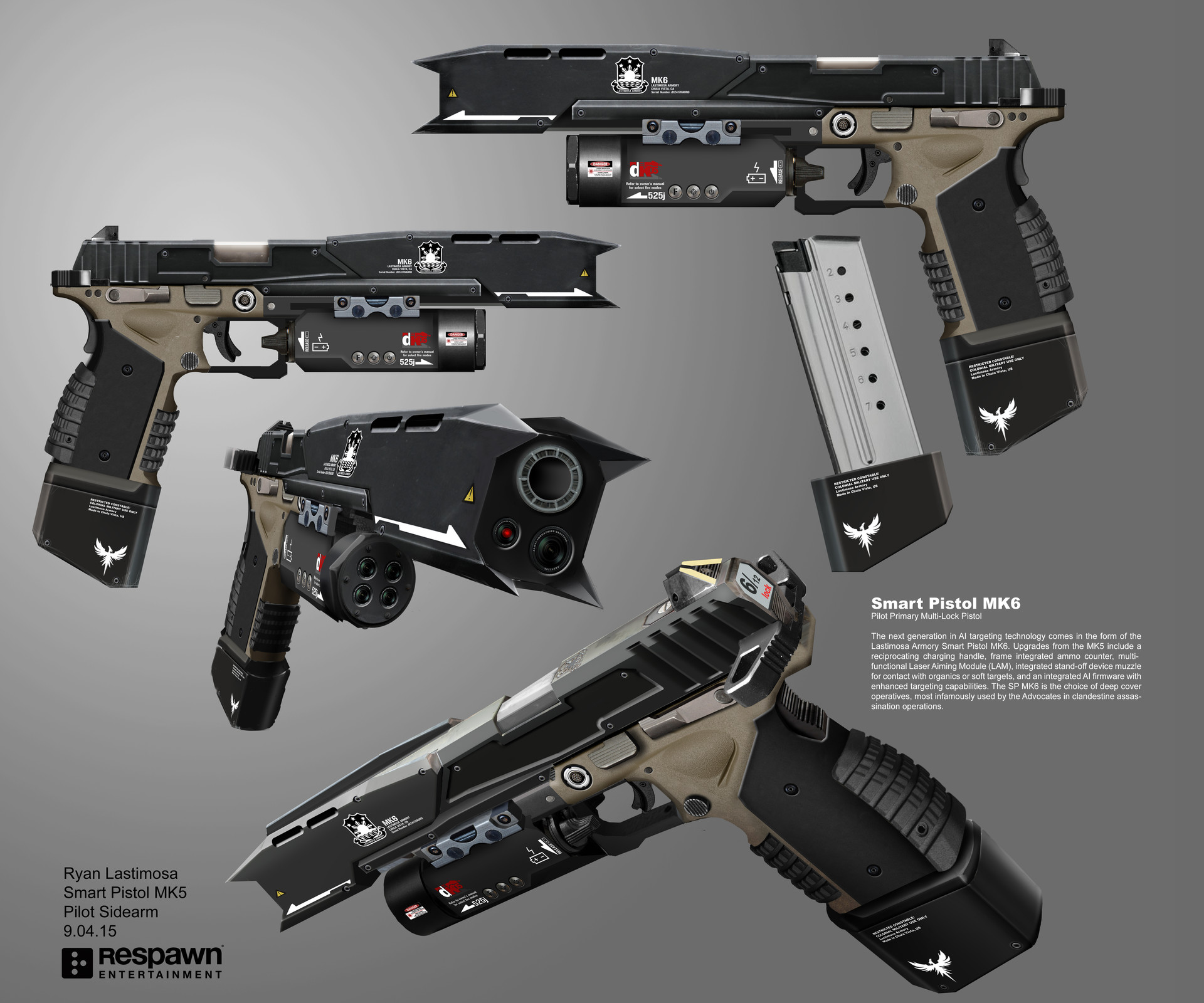 Smart Pistol MK6 | Titanfall Wiki | FANDOM powered by Wikia