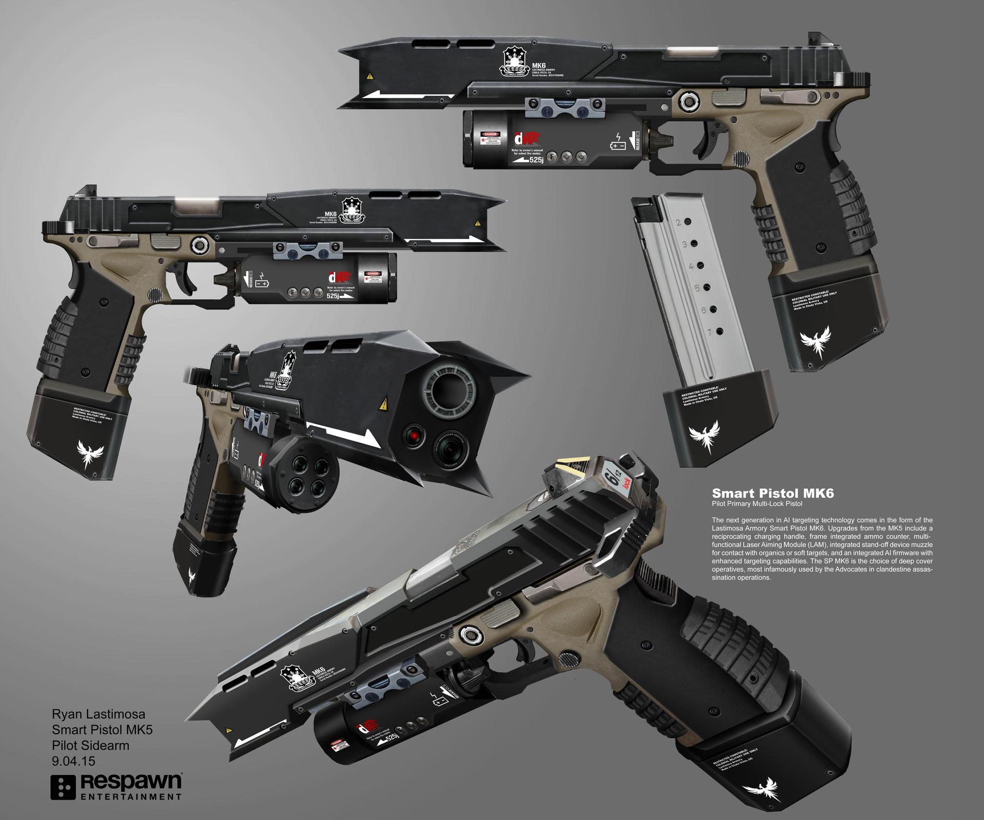 Smart Pistol MK6 | Titanfall Wiki | Fandom