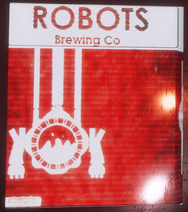 Robots Brewing Co backlit poster