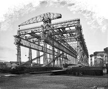 The Arrol Gantry in Belfast, Northern Ireland.
