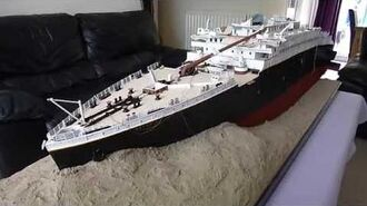 Titanic 1912 Wreck - 1 100 scale model by Jason King