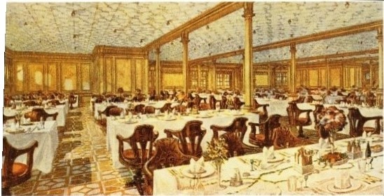 Attractive Second Class Dining Room