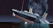 Titanic breaking