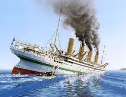 Britannic Sinking