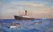 Carpathia Rescuing Titanic's Surviving Passengers