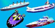 Hydro Thunder Tinytanic, Armed Responce, Blowfish & Chumdinger