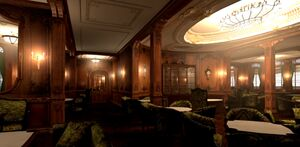 RMS Titanic First Class Lounge 3D Animation