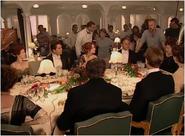 Tournage scène dîner en 1ère classe