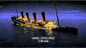 RMS Titanic breaking up sequence