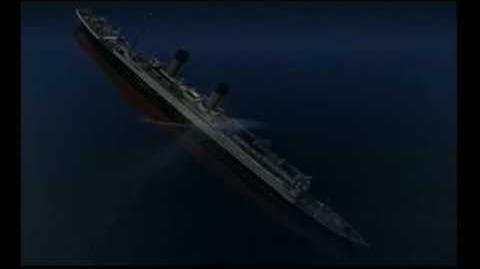 Titanic sinking 3D