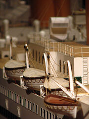 Titanic model lifeboats