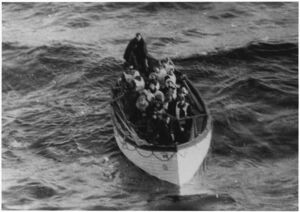 Photograph of a Lifeboat Carrying Titanic Survivors - NARA - 278337