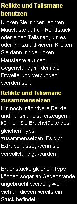 Tutorial Relikte&Talismane2