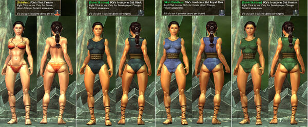 -Skirtless- POa's IronLore Standard Black-Blue-Green