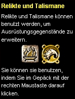 Tutorial Relikte&Talismane
