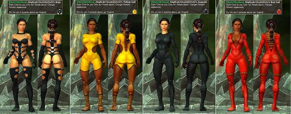 -Skirt-Skirtless- Alsafysh-OoALEJOoO's Assassin-Red-YellowSuit-Rojo