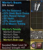 Warriors bracers