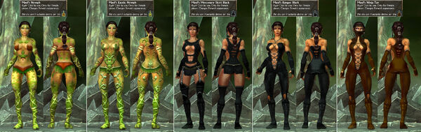 Maul's ExoticNymph-Mercenary-RangerBlack-NinjaTan