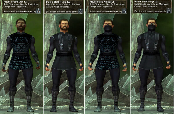 Maul's BlackNinja-BrownSkin-BlackTunic