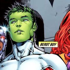 Beast Boy dans les comics.
