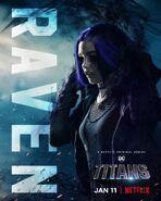 Titans S1 Raven Netflix Poster