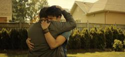 Joey hugs Slade