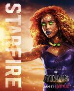 Titans Starfire Netflix Poster
