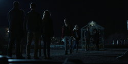 Hank, Dawn, Dick and Rachel are confronted by the Nuclear family