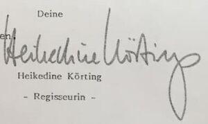 Autograph Heidike Körtings