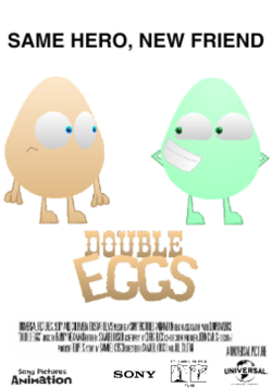 Double Eggs Poster