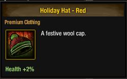 Tlsdz Holiday Hat - Red