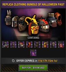 Replica Clothing Bundle of Halloween Past