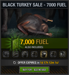 Black Turkey Sale - 7000 Fuel
