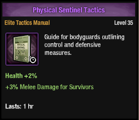 Physical sentinel tactics