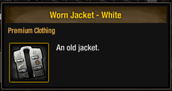 Worn Jacket - White