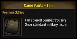 Camo pants tan
