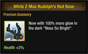White Z-Mas Rudolph's Red Nose