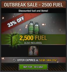 Outbreak Sale - 2500 Fuel