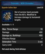Grenade-m26 shred