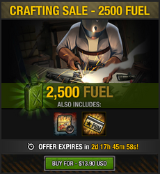 Tlsdz crafting sale - 2500 fuel