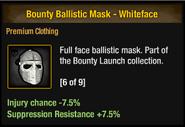 Tlsdz bounty ballistic mask - whiteface